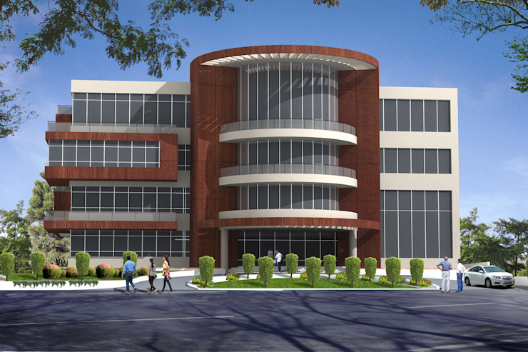 Office Building—Competition Modern office buildings by Sthaptya Vishwa Project Consultants Modern