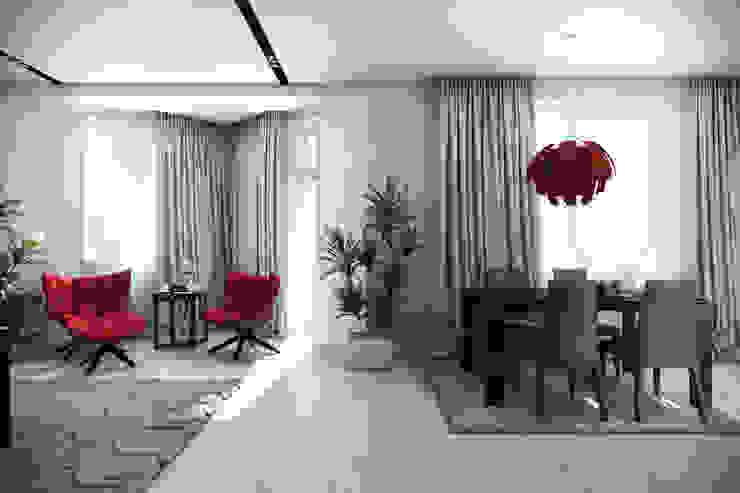 Трехкомнатная квартра в г.Новосибирск Столовая комната в эклектичном стиле от Design Studio Details Эклектичный