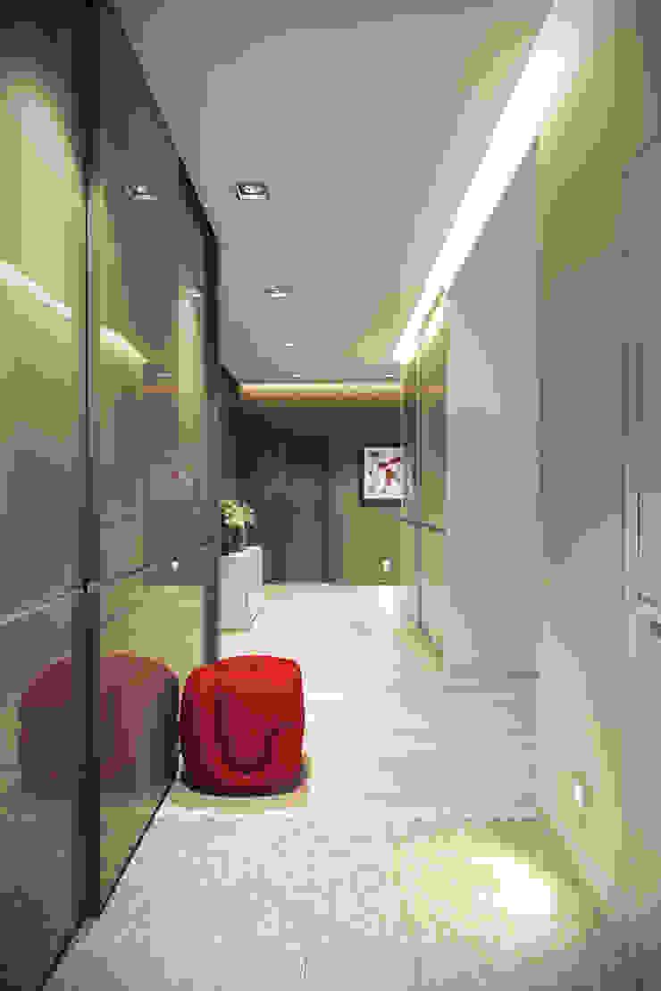 Трехкомнатная квартра в г.Новосибирск Коридор, прихожая и лестница в эклектичном стиле от Design Studio Details Эклектичный