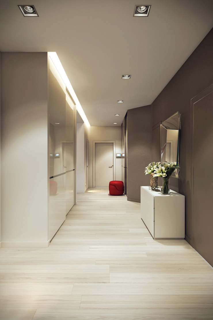 Eclectic style corridor, hallway & stairs by Design Studio Details Eclectic