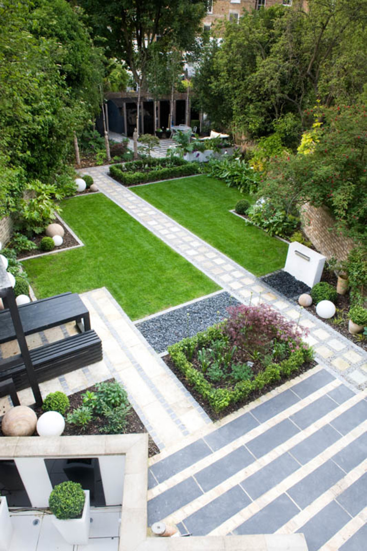 Birdseye view Modern garden by Earth Designs Modern
