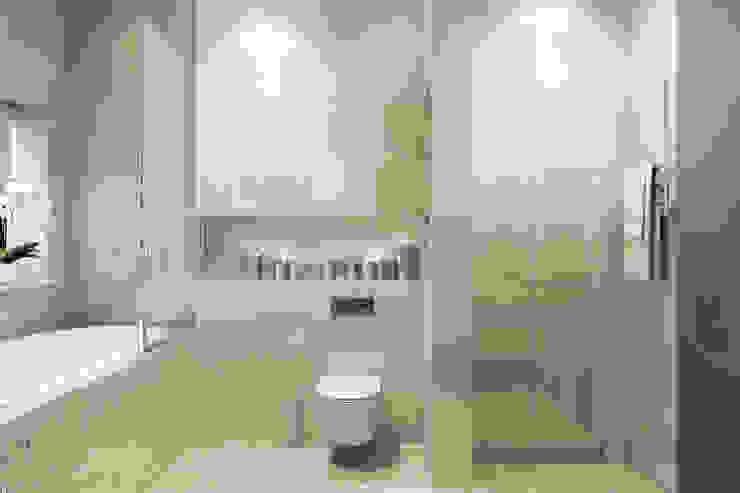 Трехкомнатная квартра в г.Новосибирск Ванная комната в эклектичном стиле от Design Studio Details Эклектичный