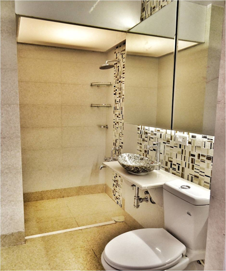 Despande's Residence Modern bathroom by Nuvo Designs Modern Stone