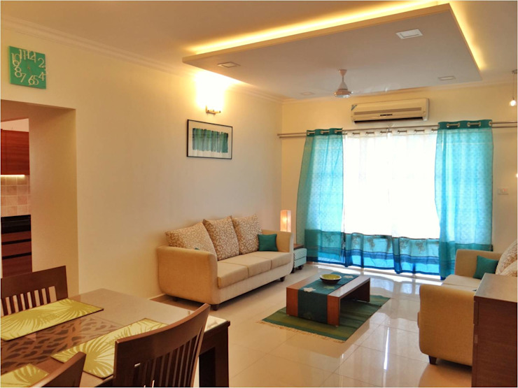 Despande's Residence Modern living room by Nuvo Designs Modern