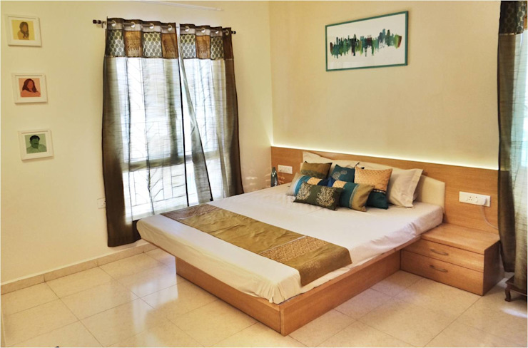 Despande's Residence Modern style bedroom by Nuvo Designs Modern