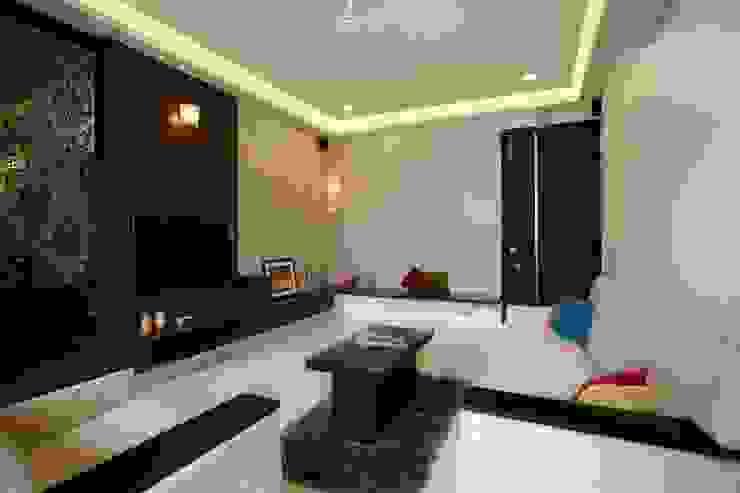 2BHK Residence Modern living room by INTERIOR WORKS Modern