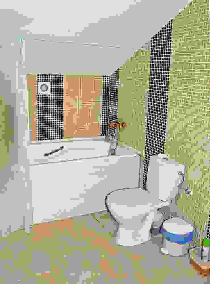 Дом в Крыму Ванная комната в рустикальном стиле от Олег Чистяков Рустикальный