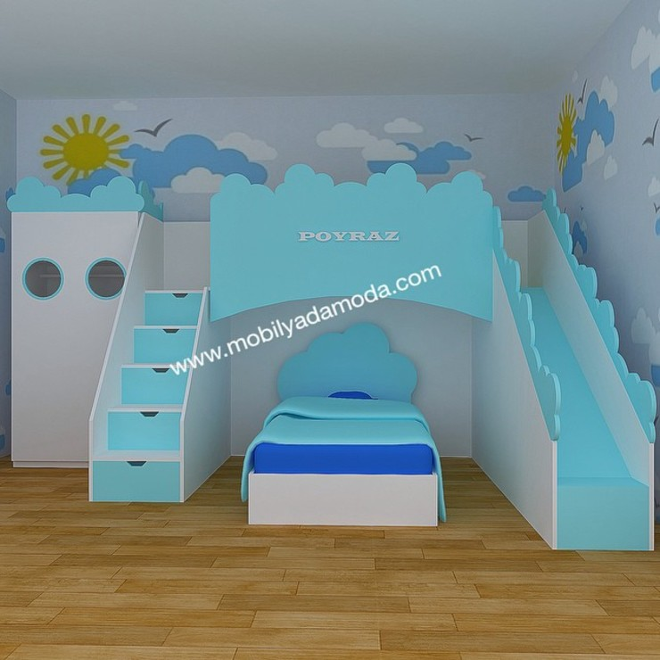 Chambre d'enfant moderne par MOBİLYADA MODA Moderne Bois Effet bois