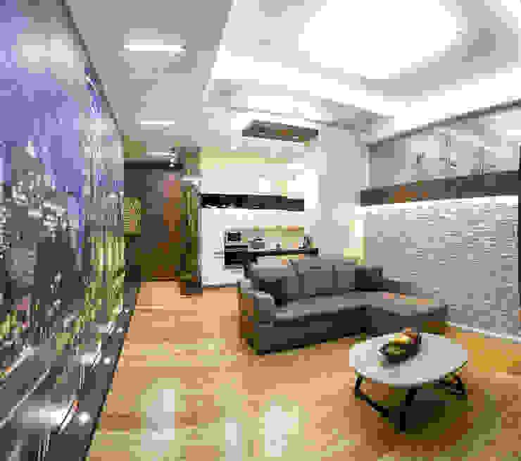 Интерьер квартиры в современном стиле Гостиные в эклектичном стиле от Antica Style Эклектичный Бамбук Зеленый