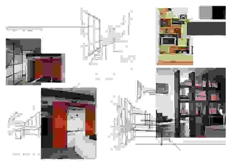 Planche d'ambiance bureaux Bureau moderne par Kauri Architecture Moderne