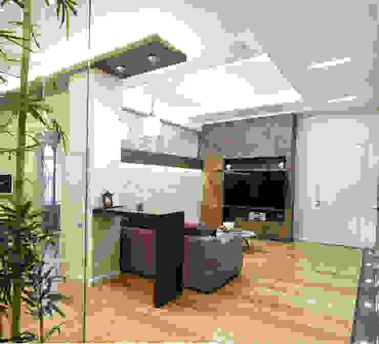 Интерьер квартиры в современном стиле Гостиные в эклектичном стиле от Antica Style Эклектичный
