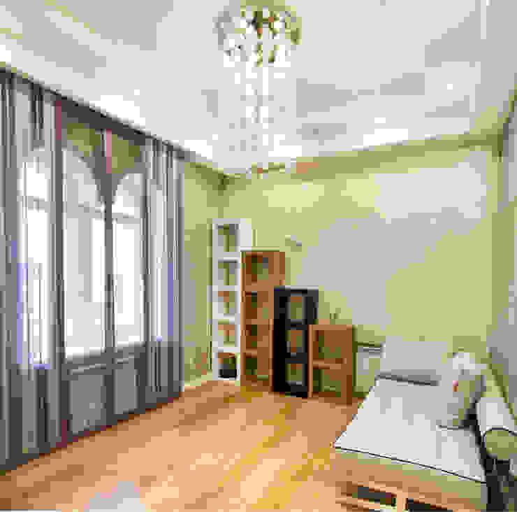 Интерьер квартиры в современном стиле Рабочий кабинет в эклектичном стиле от Antica Style Эклектичный Хлопок Красный