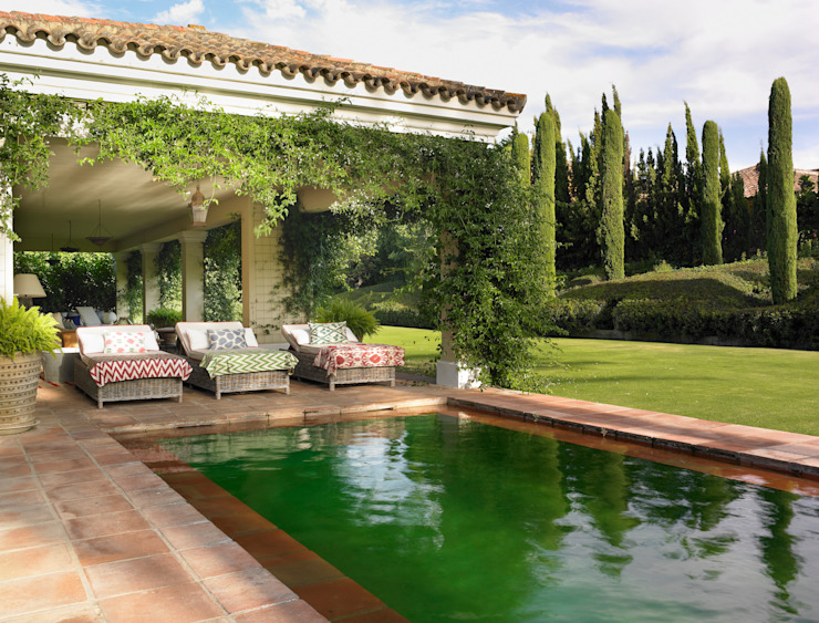 Casa Polo Sotogrande Jardines de estilo moderno de Melian Randolph Moderno