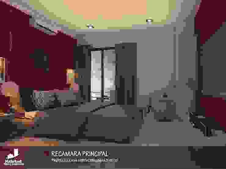 Casa Habitación Lomas Bonitas Dormitorios modernos de Habitad Diseño y Construccion Moderno