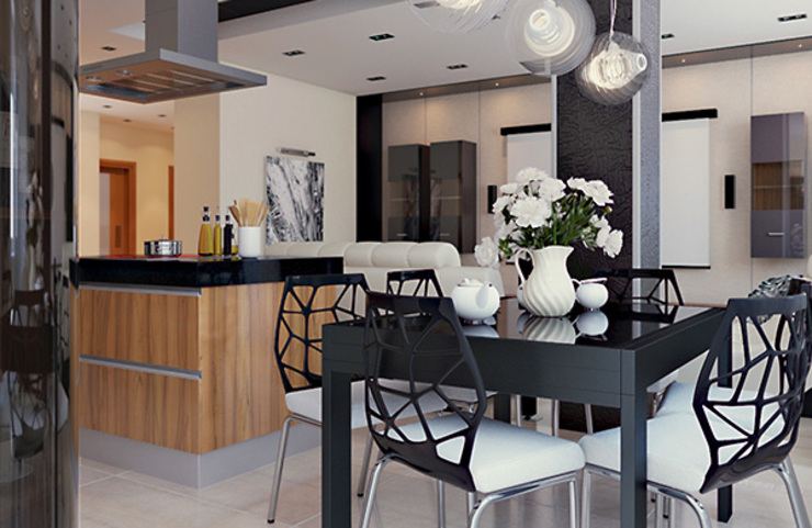 Интерьер с характером Кухня в стиле модерн от студия дизайна 'Крендель' Модерн