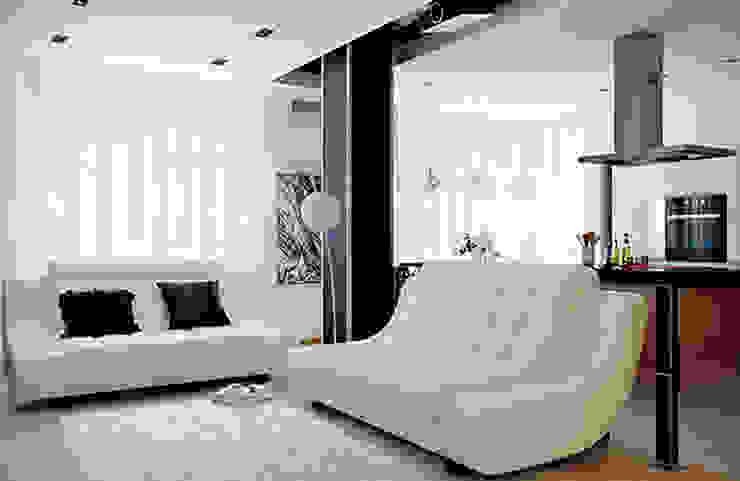 Интерьер с характером Гостиная в стиле модерн от студия дизайна 'Крендель' Модерн