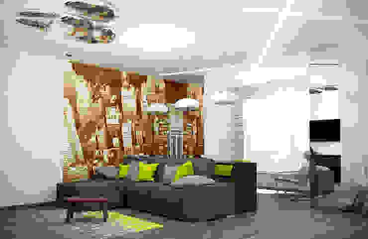 Гостиная-студия Гостиная в стиле лофт от interier18.ru Лофт