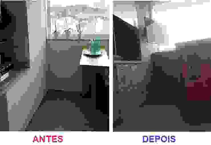 O ANTES E O DEPOIS DE UMA VARANDA GOURMET Varandas, alpendres e terraços modernos por Nanci Pedro Arquitetura Moderno