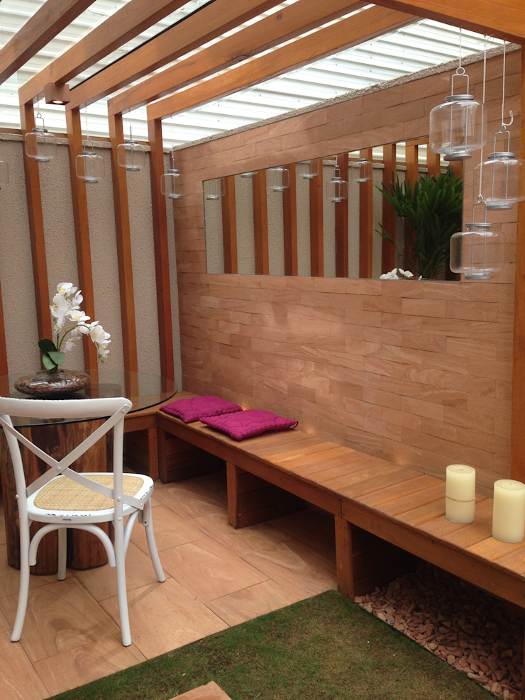 Condomínio Terrara Varandas, alpendres e terraços modernos por Gigi Gorenstein Arquitetura e Interiores Moderno
