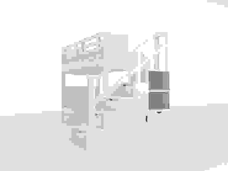 Beliche Com Escada Estante por Oficina Rústica (OFR Unipessoal Lda) Eclético Madeira Acabamento em madeira