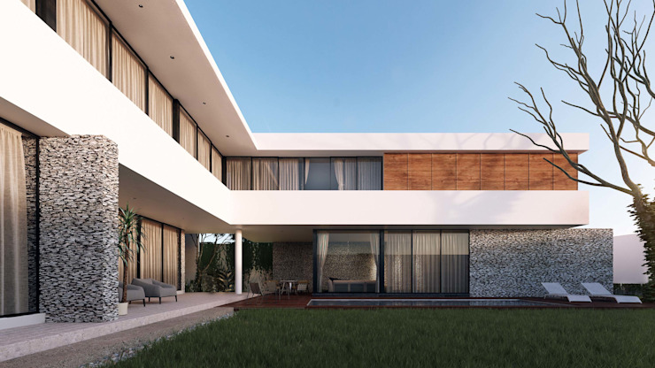 Casa Ortiz Casas modernas de TNGNT arquitectos Moderno