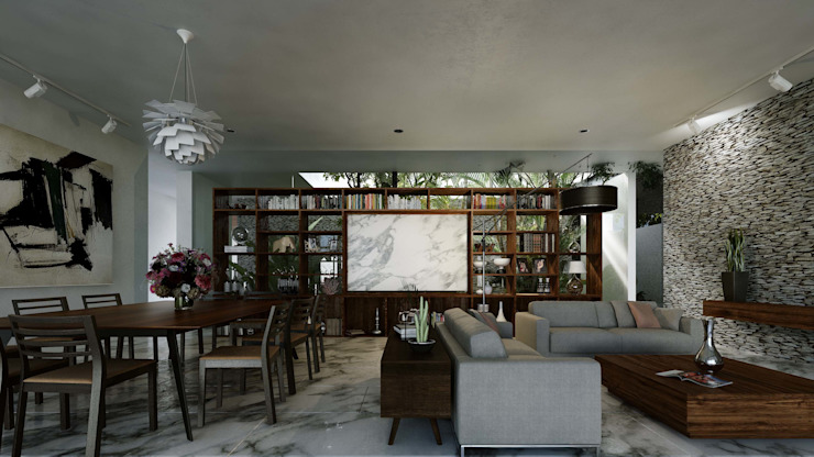 Casa Ortiz Comedores modernos de TNGNT arquitectos Moderno
