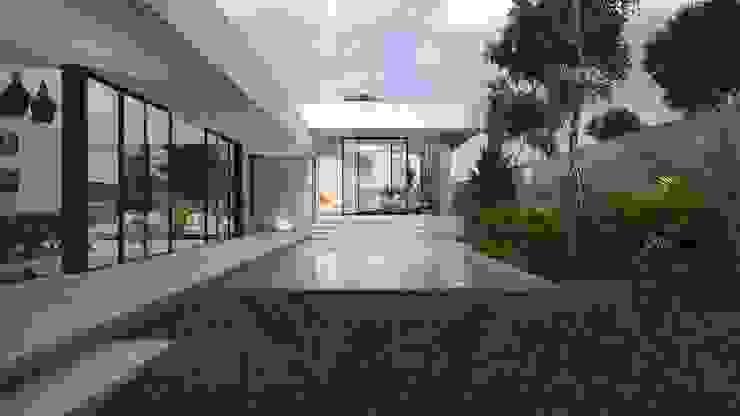 Casa Silveira Albercas modernas de TNGNT arquitectos Moderno