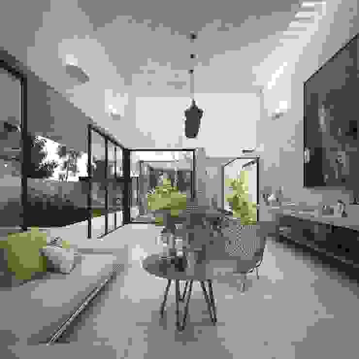Casa Silveira Salones modernos de TNGNT arquitectos Moderno