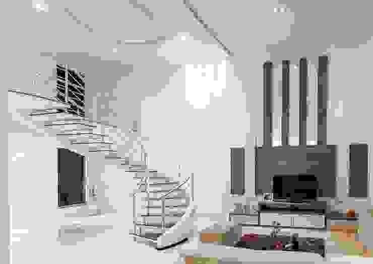 projeto Salas de estar modernas por Dani Sanabria Arquitetura e Interiores Moderno