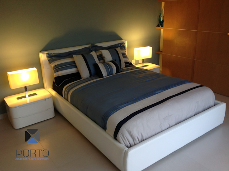 Proyecto <q>Penthouse Club de Golf Pok Ta Pok, Cancun</q> Recámaras eclécticas de PORTO Arquitectura + Diseño de Interiores Ecléctico