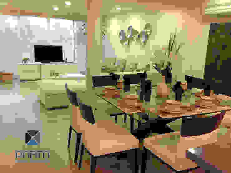 Proyecto <q>Penthouse Club de Golf Pok Ta Pok, Cancun</q> Comedores eclécticos de PORTO Arquitectura + Diseño de Interiores Ecléctico