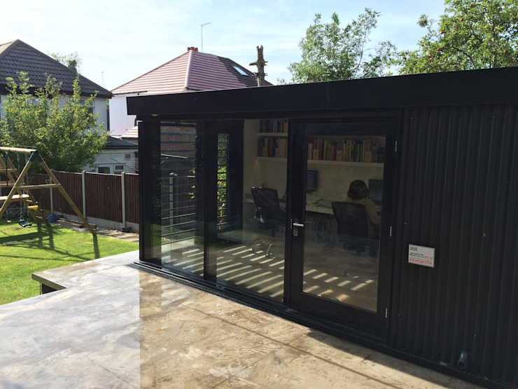 Garden Office Moderne studeerkamer van Gruhe Architects Modern