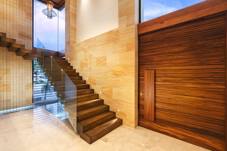 Modern Corridor, Hallway and Staircase by Imativa Arquitectos Modern