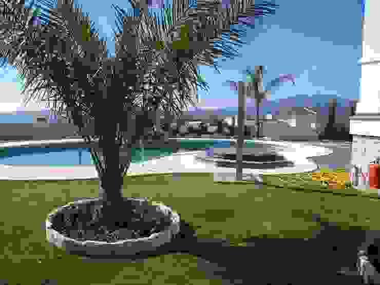 jardin y piscina Jardines de estilo mediterráneo de UAArquitectos Mediterráneo