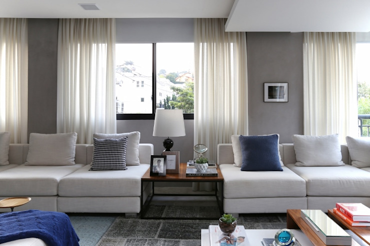Hildebrand Silva Arquitetura - Cidade Jardim Salas de estar modernas por Mariana Orsi Fotografia Moderno