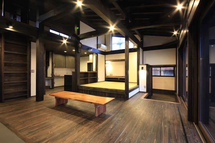 에클레틱 거실 by 田村建築設計工房 에클레틱 (Eclectic)