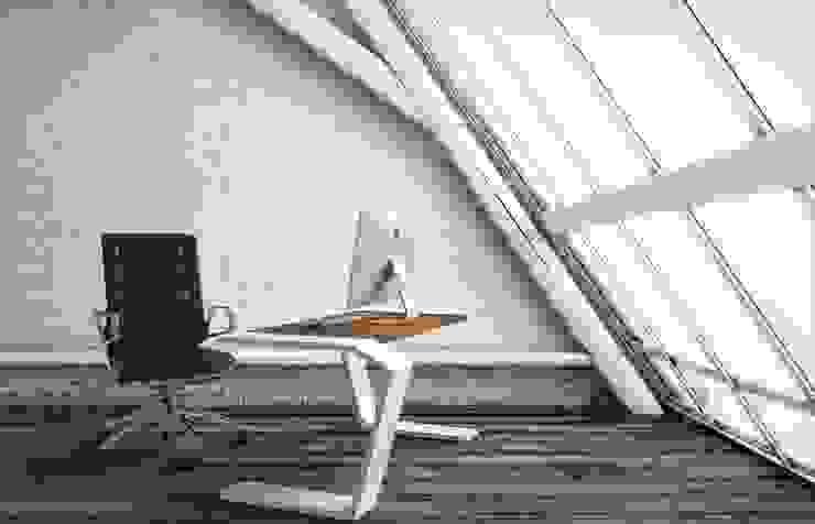 Betonowe meble Nowoczesne domowe biuro i gabinet od Modern Line Nowoczesny