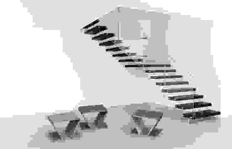 Betonowe meble Nowoczesny korytarz, przedpokój i schody od Modern Line Nowoczesny