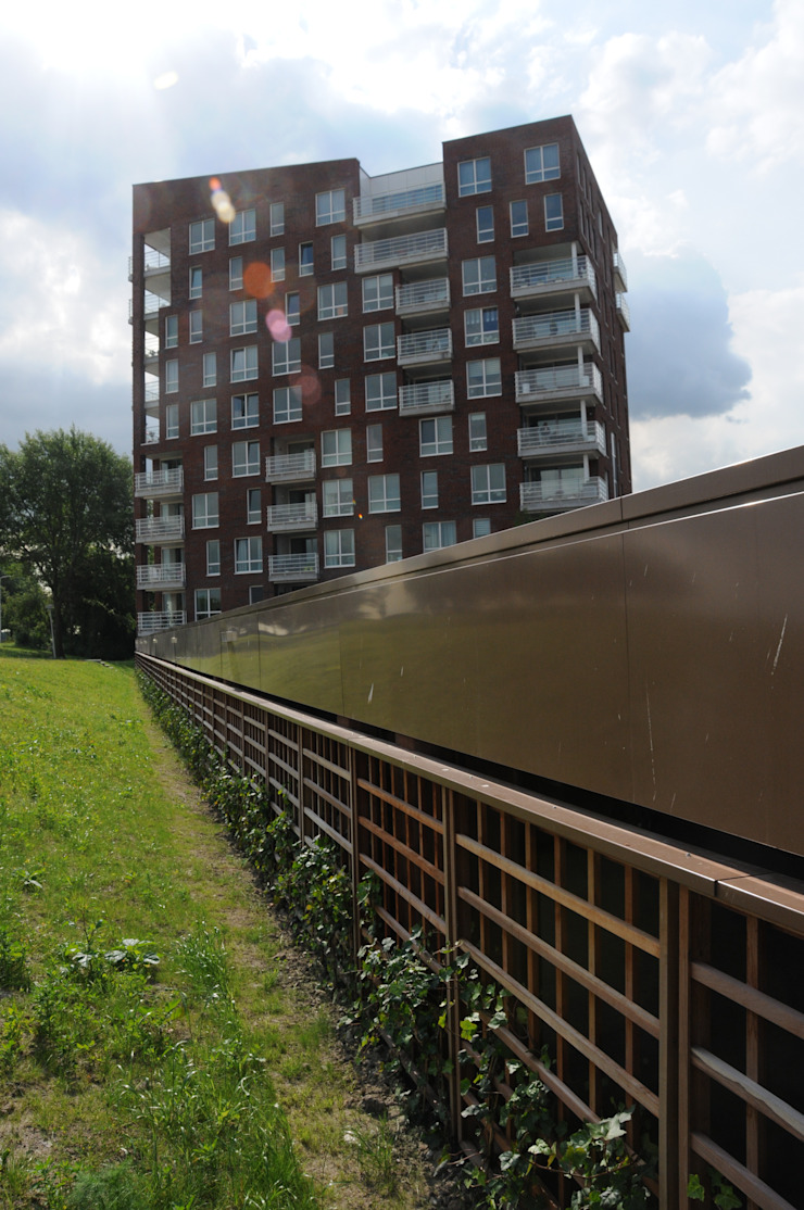 Rozenburg de boulevard Moderne huizen van Jorissen Simonetti Modern Stenen
