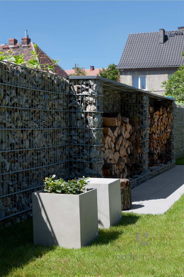 Betonowe donice Nowoczesny ogród od Modern Line Nowoczesny