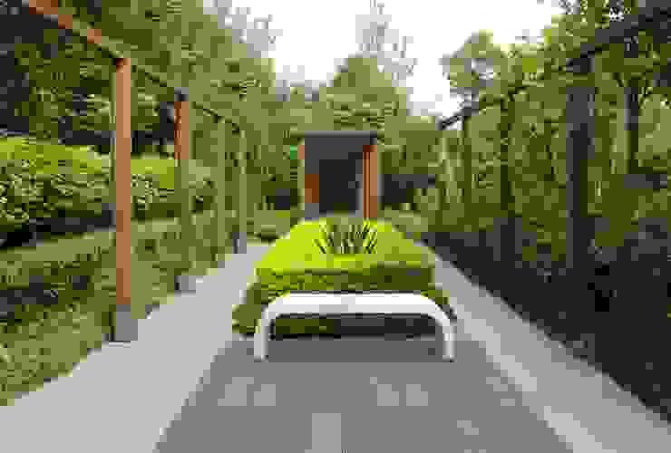 Betonowe ławki. Nowoczesny ogród od Modern Line Nowoczesny