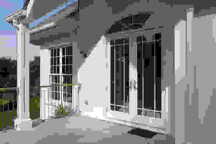 Arch Top French Doors Marvin Windows and Doors UK Pintu & Jendela Gaya Klasik