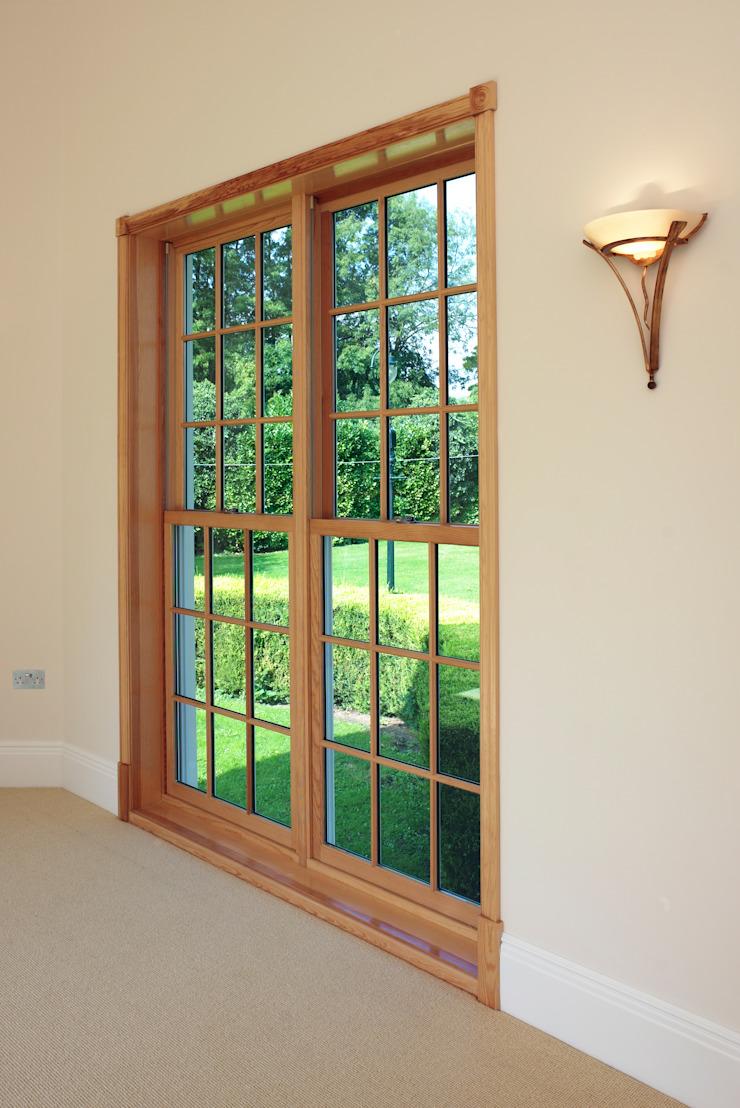 Oversized Sash Windows Marvin Windows and Doors UK Pintu & Jendela Gaya Klasik