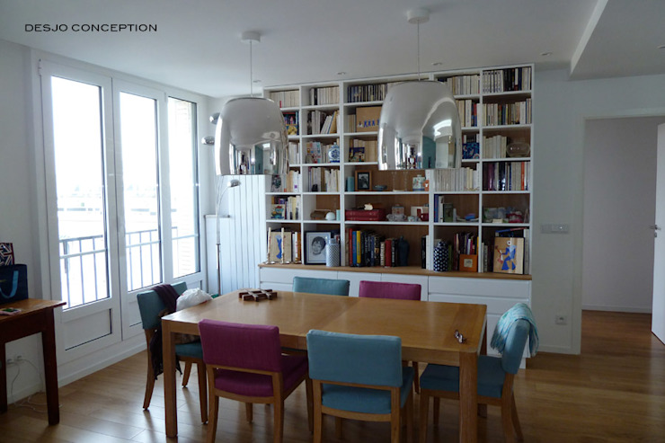 Félix Faure - Paris XV - 130 m2 Salle à manger moderne par Desjoconception Moderne