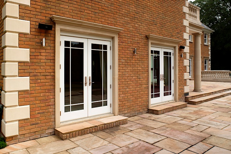 Aluminium Clad Wod French Doors Marvin Windows and Doors UK Jendela kayu