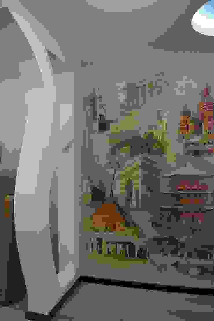 """Фото ремонта квартиры в ЖК """"Адмирал"""" Детская комната в стиле модерн от Студия интерьерного дизайна happy.design Модерн"""
