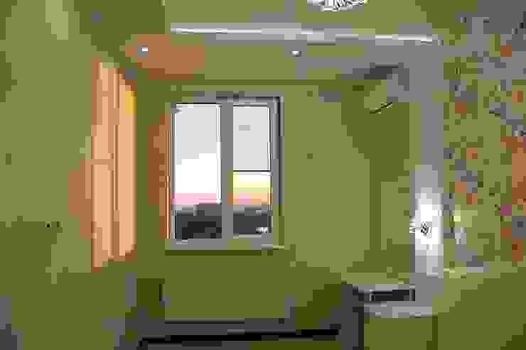 """Фото ремонта квартиры в ЖК """"Адмирал"""" Спальня в стиле модерн от Студия интерьерного дизайна happy.design Модерн"""