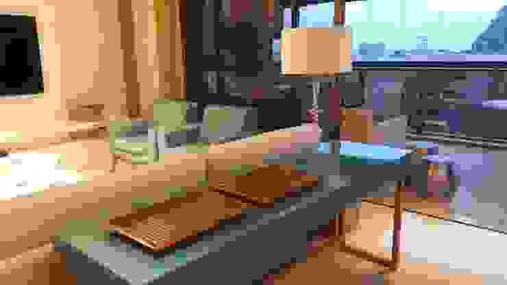 Detalhes integração visual no living. Salas de estar modernas por Lucio Nocito Arquitetura e Design de Interiores Moderno