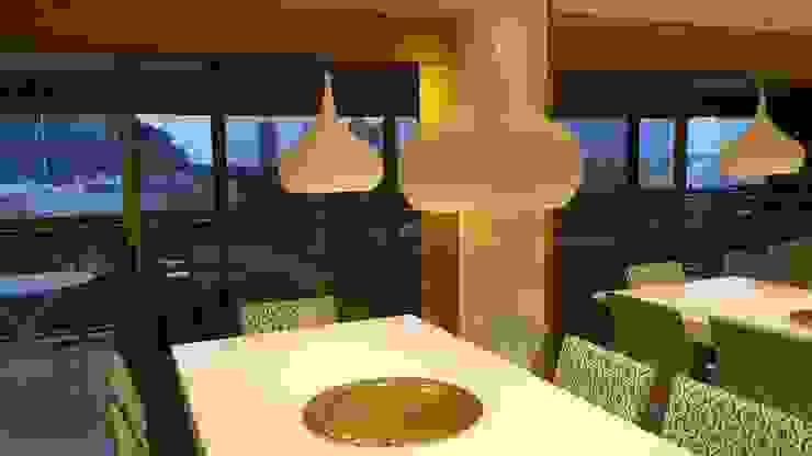 Conceito sala de jantar. Salas de jantar modernas por Lucio Nocito Arquitetura e Design de Interiores Moderno