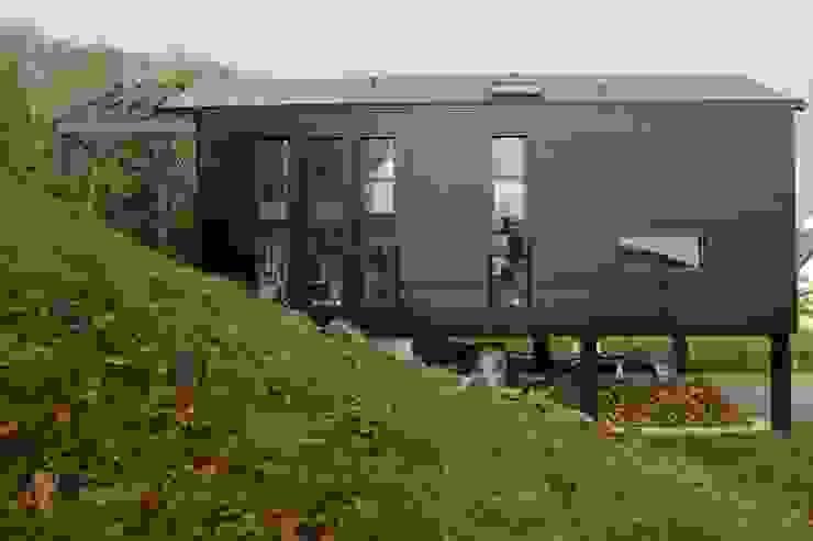 CARBONE WOOD Maisons scandinaves par Bertin Bichet Scandinave Aluminium/Zinc